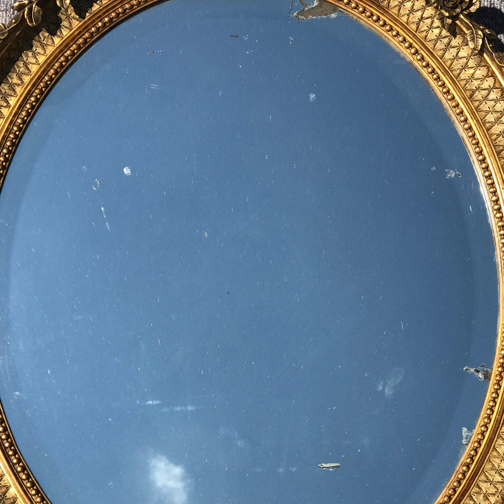George IV Giltwood Oval Mirror - Detail View - 6