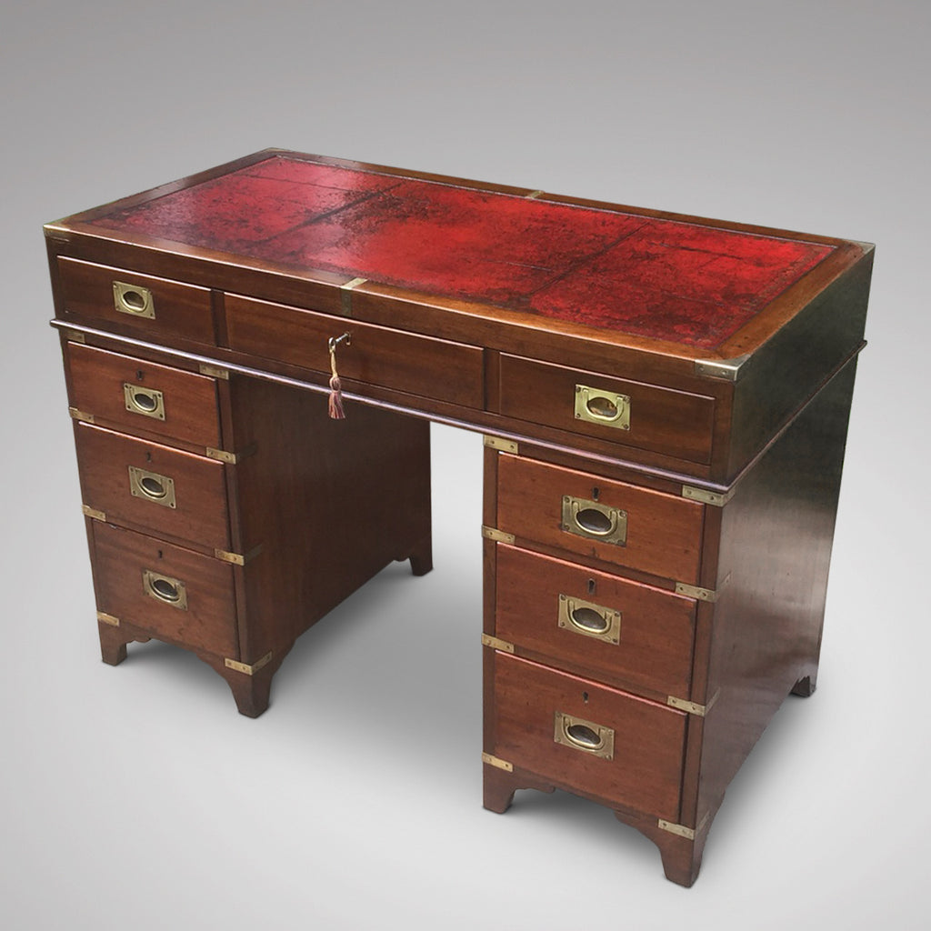 19th Century Mahogany Campaign Desk - Hobson May Collection - 8
