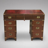 19th Century Mahogany Campaign Desk - Front view 2