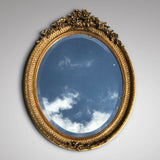 George IV Giltwood Oval Mirror - Main View - 1