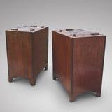 19th Century Mahogany Campaign Desk - Back view of pedestals