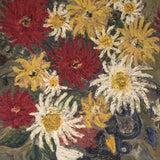 Large 20th Century Floral Still Life Oil Painting - Detail View-2