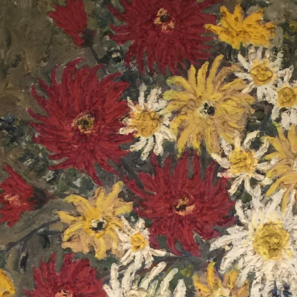 Large 20th Century Floral Still Life Oil Painting - Detail View- 3