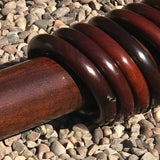 Victorian Mahogany Country House Curtain Pole - Detail  View - 2