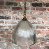 Pair of Art Deco Glass Pendant Lights - View of shade - 3