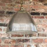 Pair of Art Deco Glass Pendant Lights - View of shade - 2