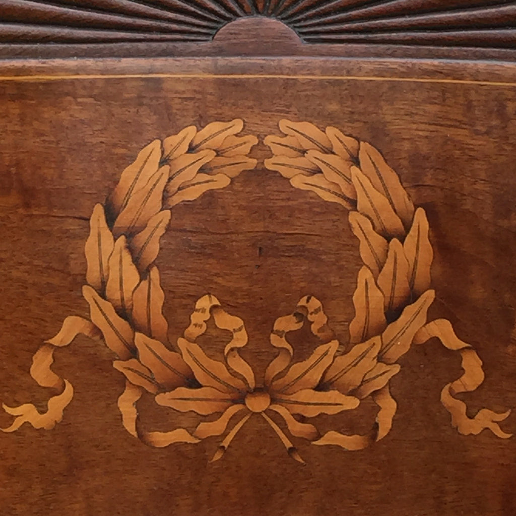 19th Century Mahogany Elbow Chair - Detail of Back Inlay- 4
