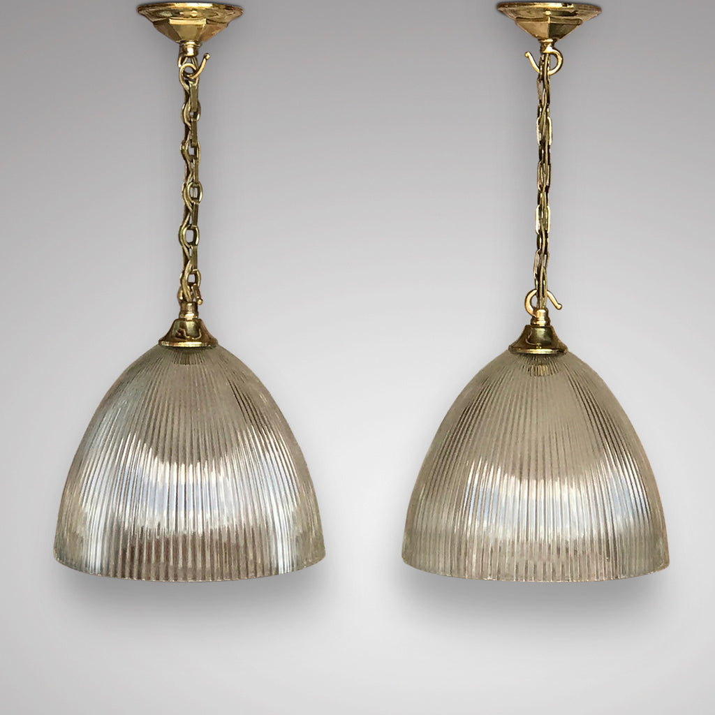 Pair of Art Deco Glass Pendant Lights - Main View - 1