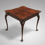 George II Mahogany Tea Table - Open View - 3
