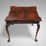 George II Mahogany Tea Table - Open View - 4