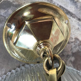 Pair of Art Deco Glass Pendant Lights - Detail View of Rose - 6
