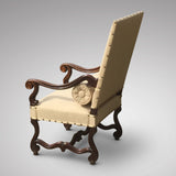 19th Century Carved Open Armchair - Side & back view 3