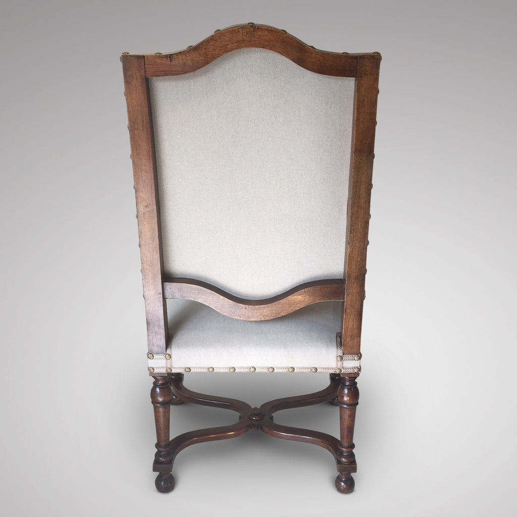19th Century High Back Open Armchair - Back view