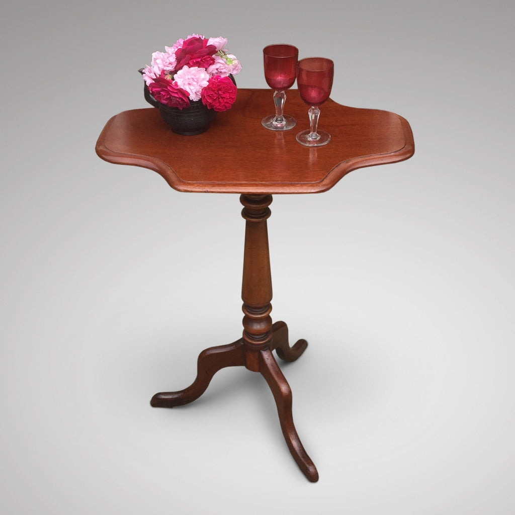 19th Century Mahogany Tilt Top Table - Front View - 1