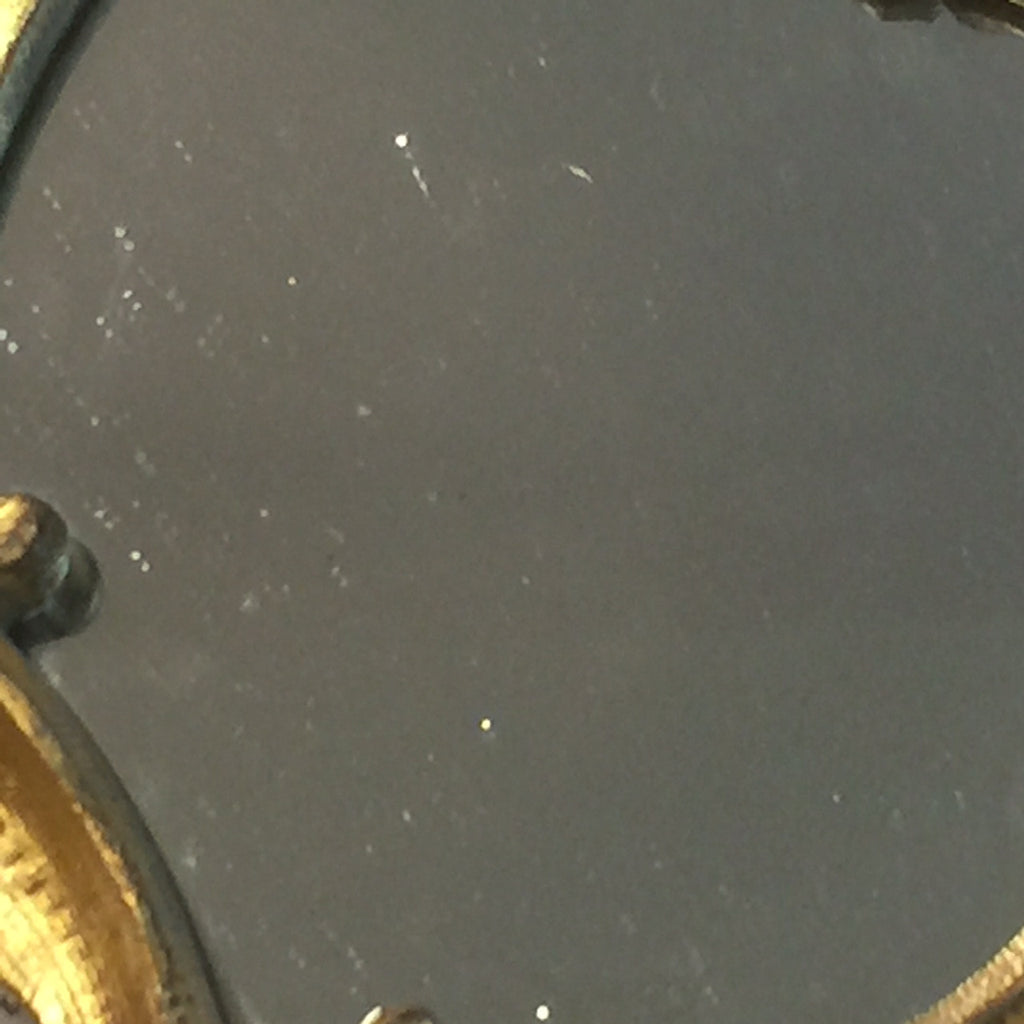 A Pair of 19th Century Gilt Metal Girandoles - Close up view of glass 1