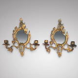 A Pair of 19th Century Gilt Metal Girandoles - Main image of pair