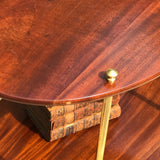 Early 20th Century Mahogany & Brass Oval Etagere - Detail View - 3