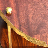Early 20th Century Mahogany & Brass Oval Etagere - Detail View - 5