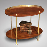 Early 20th Century Mahogany & Brass Oval Etagere - Front View - 1