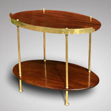 Early 20th Century Mahogany & Brass Oval Etagere - Back View - 2
