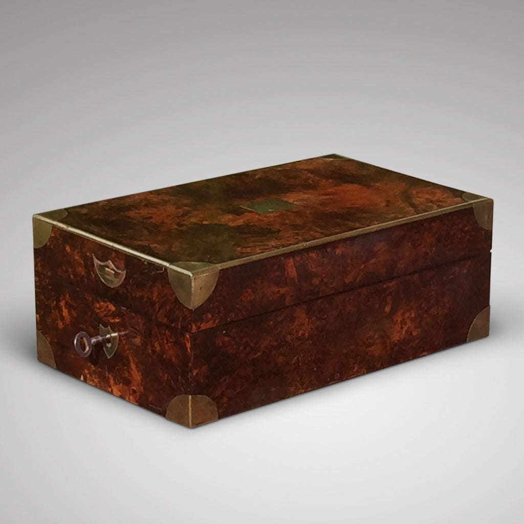 Victorian  Mulberry Wood Campaign Toilette Box - Hobson May Collection - 2