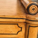 Regency Style Faux Bamboo Hall Bench - Detail View - 5
