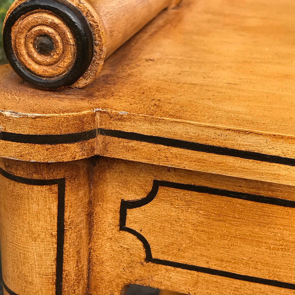 Regency Style Faux Bamboo Hall Bench - Detail View - 6