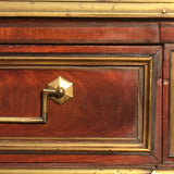 French Empire Mahogany Console/Hall Table - Drawer detail view- 6