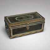 Regency Leather Covered Camphor Campaign Box-Front view 3