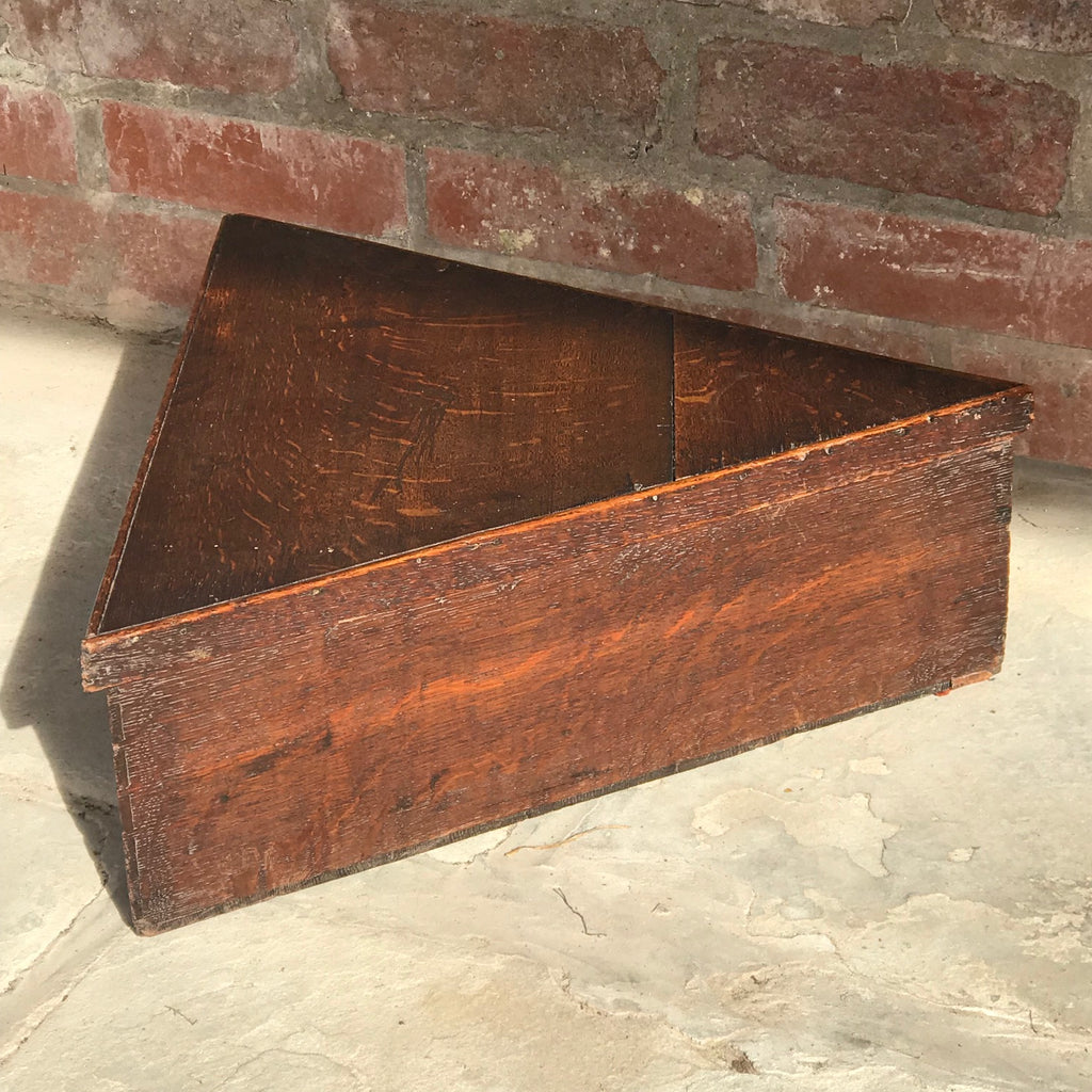Georgian Oak Tricorn Hat Box - Main View - 2