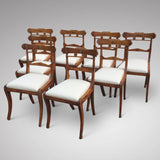 Set of 8 Regency Fruit Wood Dining Chairs - Hobson May Collection - 3