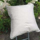 Over Size Wool and Silk Cushion - Back View - 2