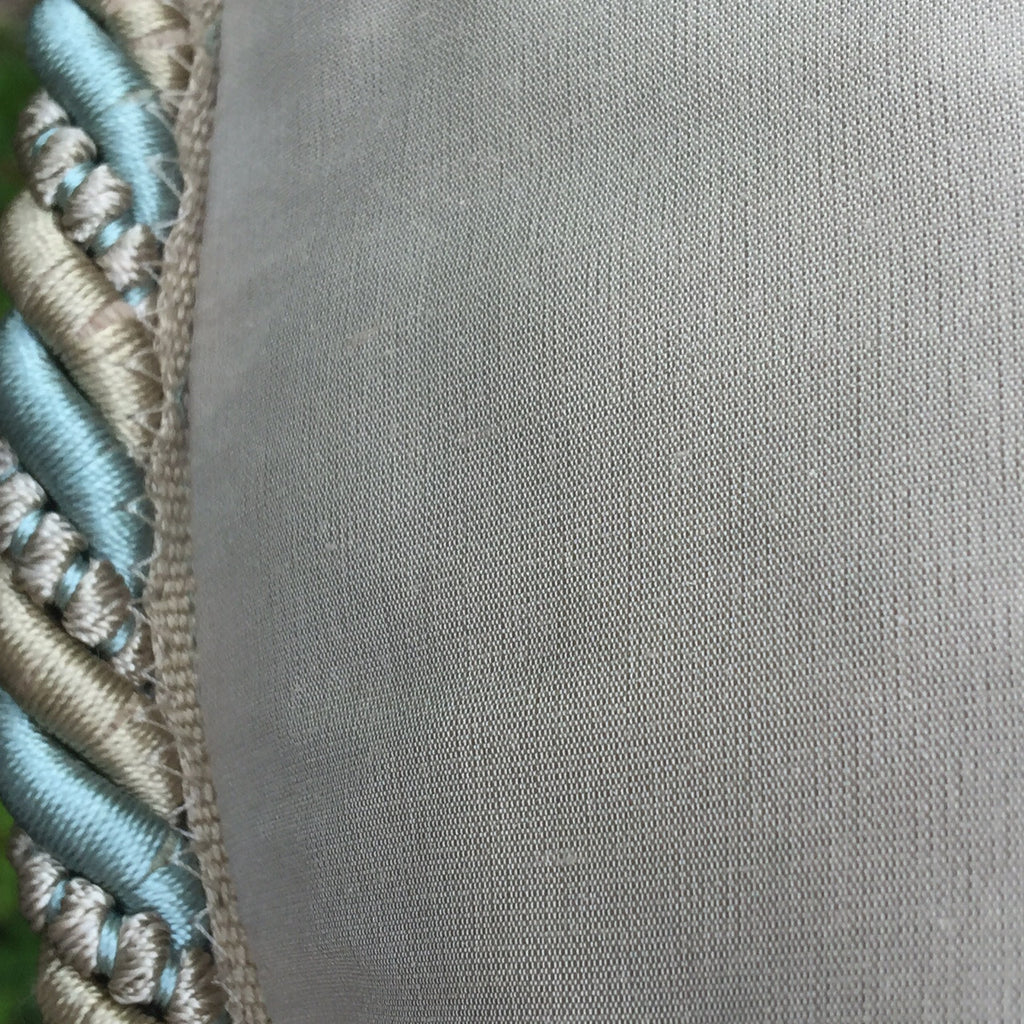 Over Size Wool and Silk Cushion - Detail View of Trim-6