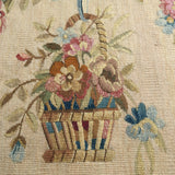 Over Size Wool and Silk Cushion -Detail View - 4