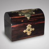 19th Coromandel wood Domed Top Tea Caddy - Front View - 4