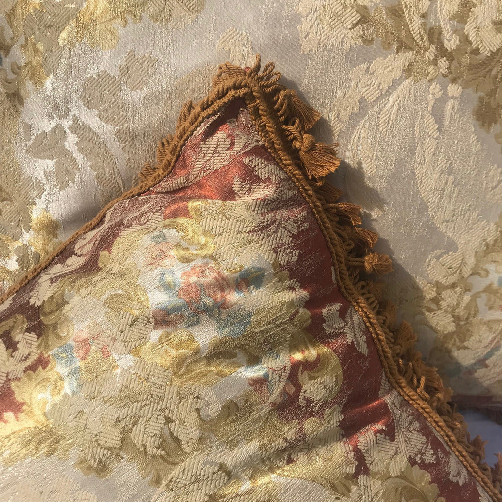 Pair of Large Silk Mulberry Cushions - Detail View - 2