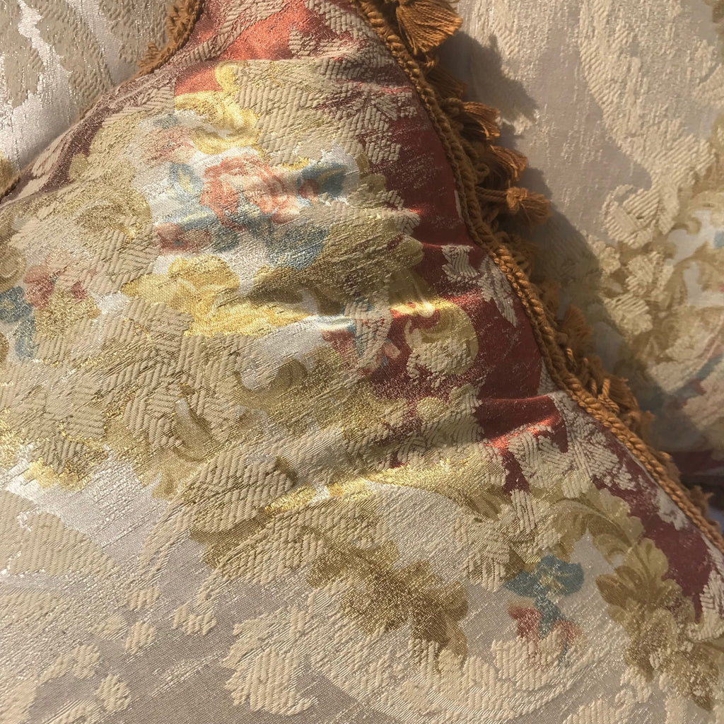 Pair of Large Silk Mulberry Cushions - Detail View - 6