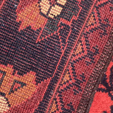 Superb Afghan Wool Runner - Detail View - 5