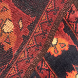 Superb Afghan Wool Runner - Detail View - 4
