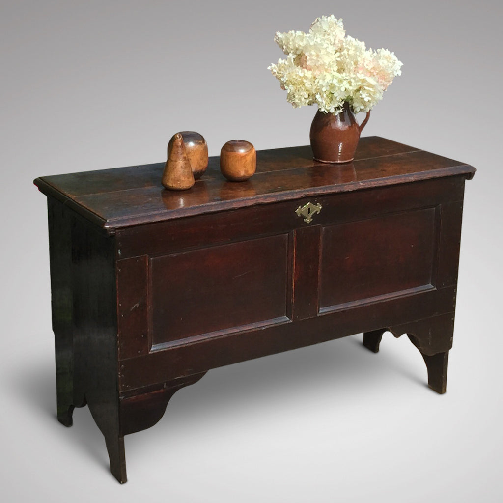 Early 18th Century Oak Coffer - Front and Side View - 3