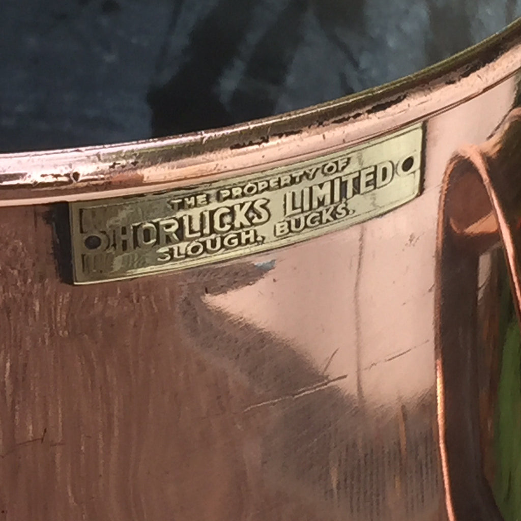 A Rare Copper Horlicks Advertising Jug - Side Detail - 5