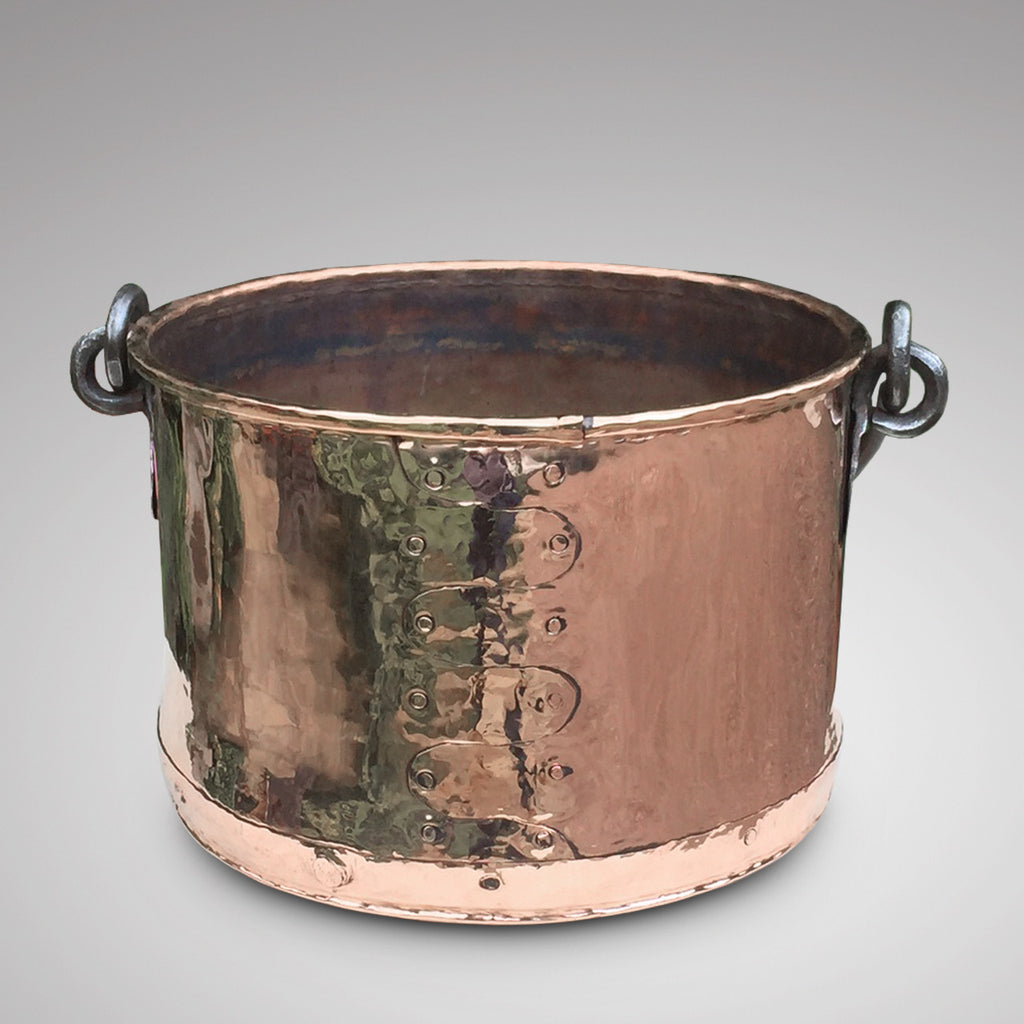 19th Century Copper Planter/Log Bin -Front View - 3