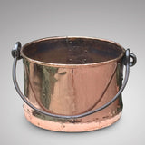 19th Century Copper Planter/Log Bin - Front View-2