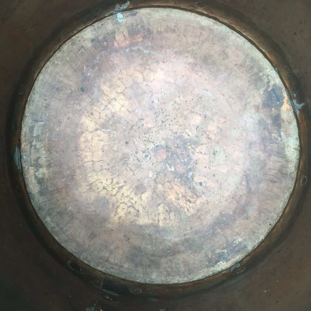 19th Century Copper Planter/Log Bin - Inside View - 7