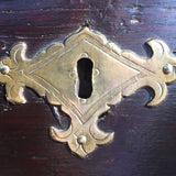 Early 18th Century Oak Coffer - Detail of Brass Lock - 6
