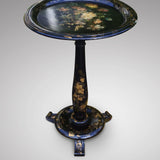Jennens & Bettridge Papier Mache Pedestal Table - Front View 2