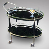 Art Deco Brass Drinks Trolley/Bar Cart - Side Trolley View - 1