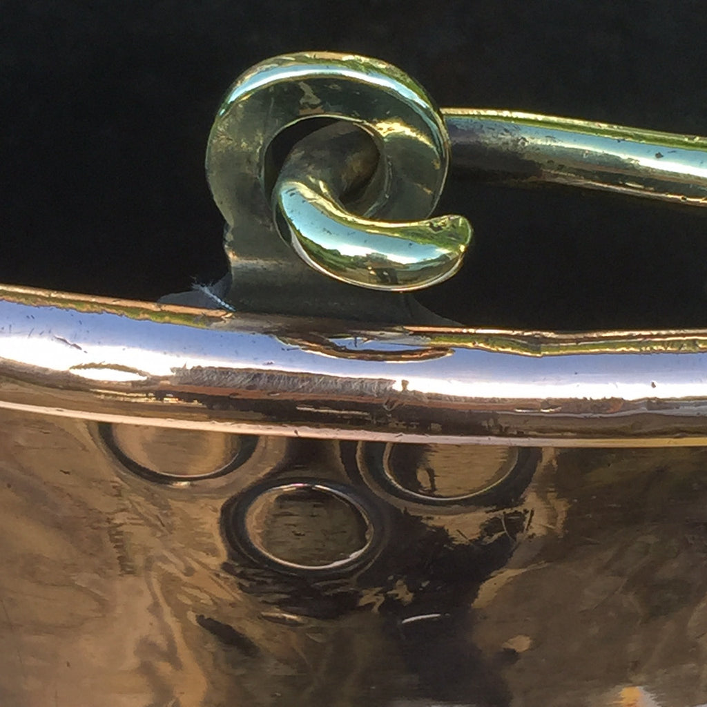 Georgian Oval Copper Peat Bucket - Handle Detail View - 4