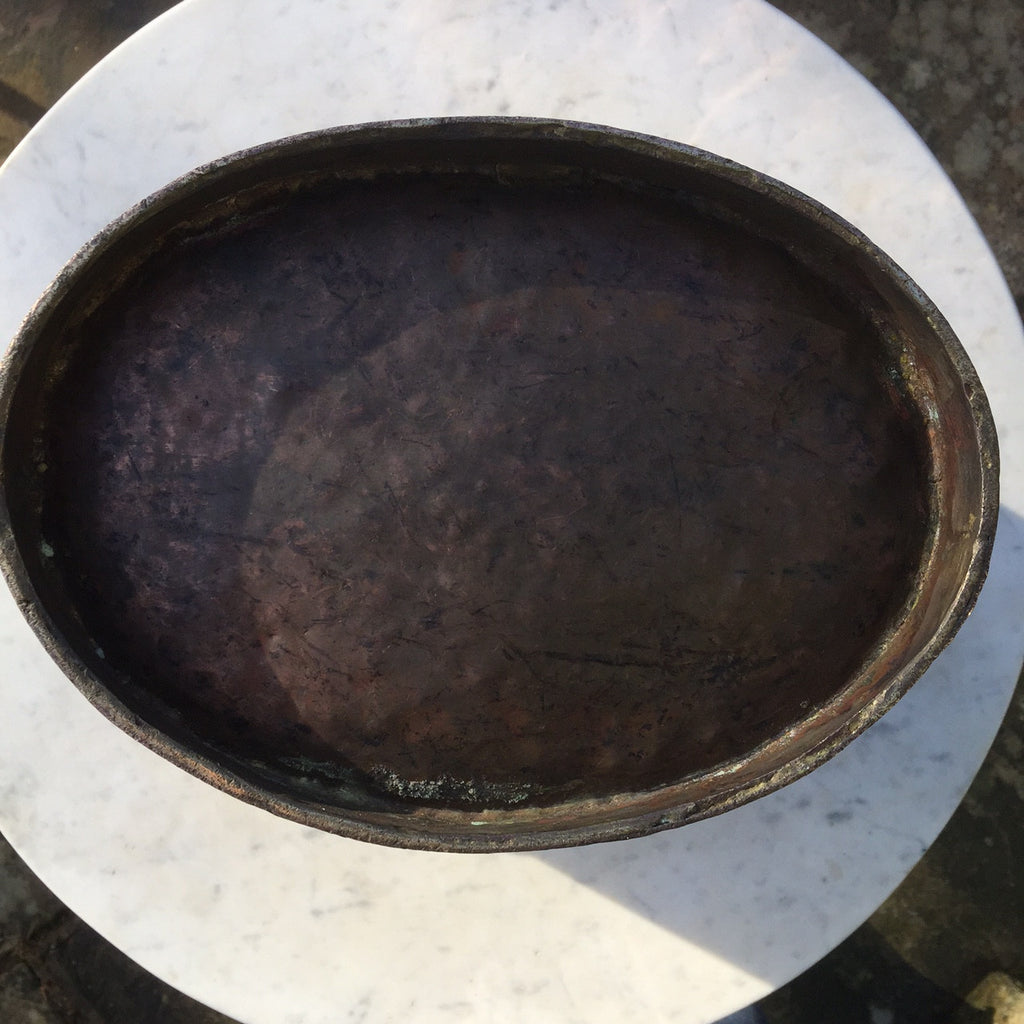 Georgian Oval Copper Peat Bucket - Underside View - 5