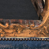 Carved Walnut Stool with Original Needlework Upholstery - Detail View - 5